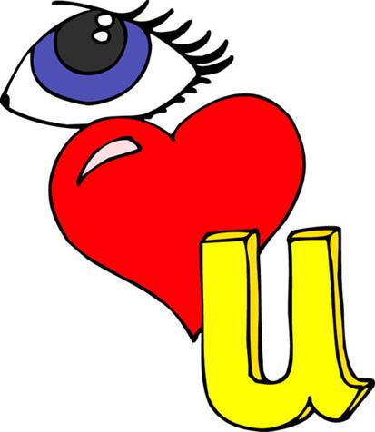 Love heart drawings i love you rebus
