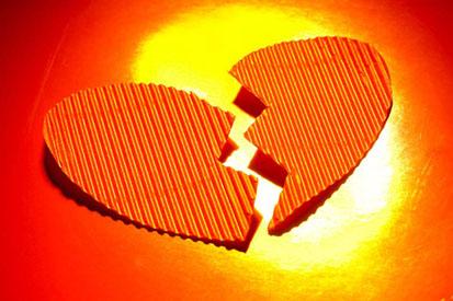 broken heart orange love