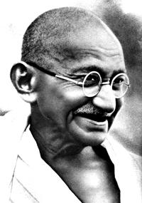 Mahatma Gandhi Smiling