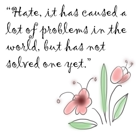 Maya Angelou quote about hate