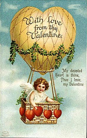 old air balloon from valentine
