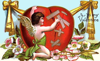Angel mending broken love heart