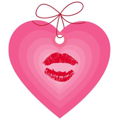 drawings of hearts pink heart kiss