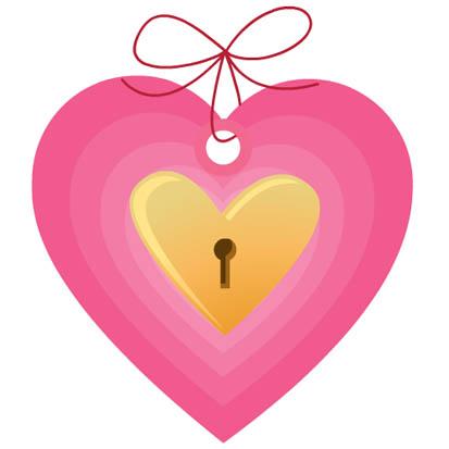 pink heart lock