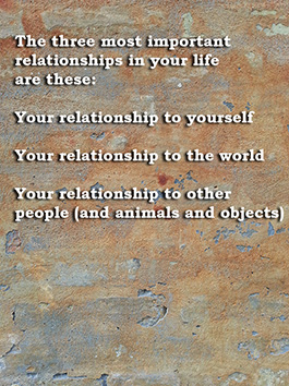 relationships to yourself and people