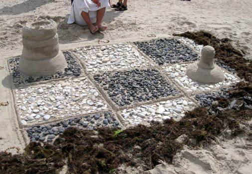 sand sculpture chess ephemeral art