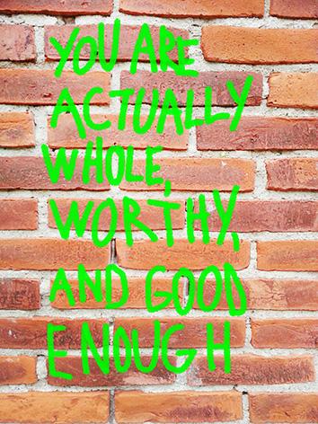 self esteem wall