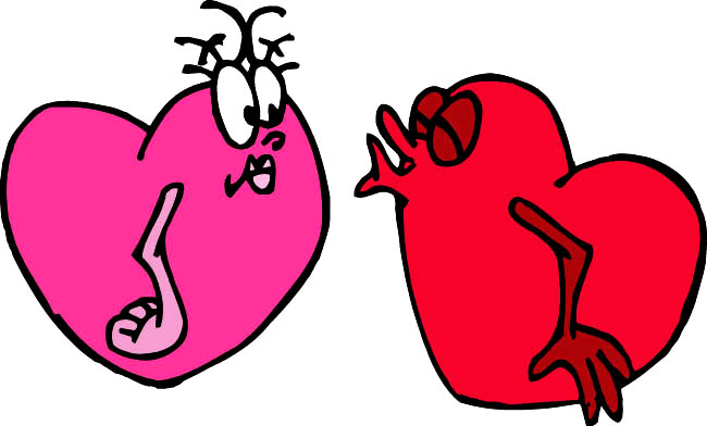 heart images silly hearts almost kissing