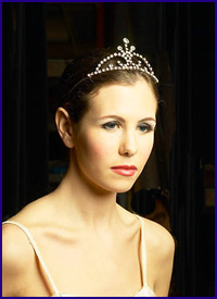 how woman think face of woman with tiara