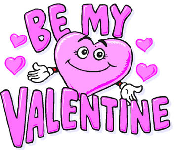 valentine heart clipart pink be mine valentine