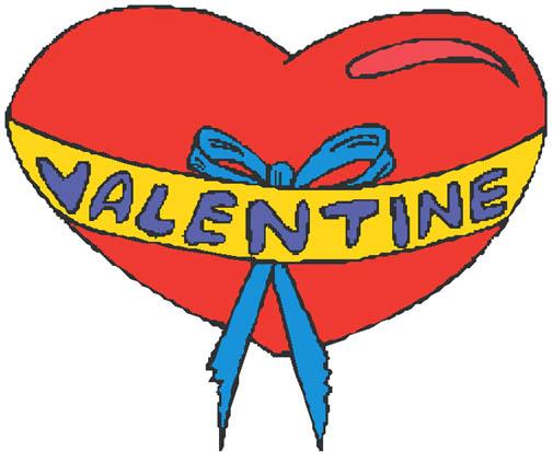 valentine heart clipart ribbon red heart