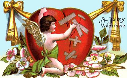 Angel mending broken love heart