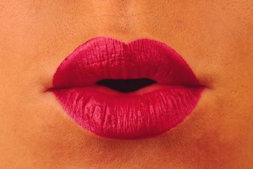 Love Tips - womans lips mouth red lipstick closeup photo